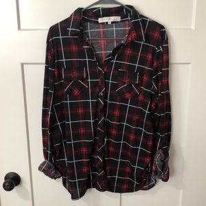 Women's XL black and red flannel.